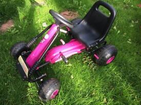 Girls go kart cart ride on