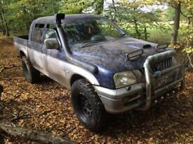 Mitsubishi L200 pickup truck - offroad 4x4 pick up turbo diesel manual aircon export import £1500