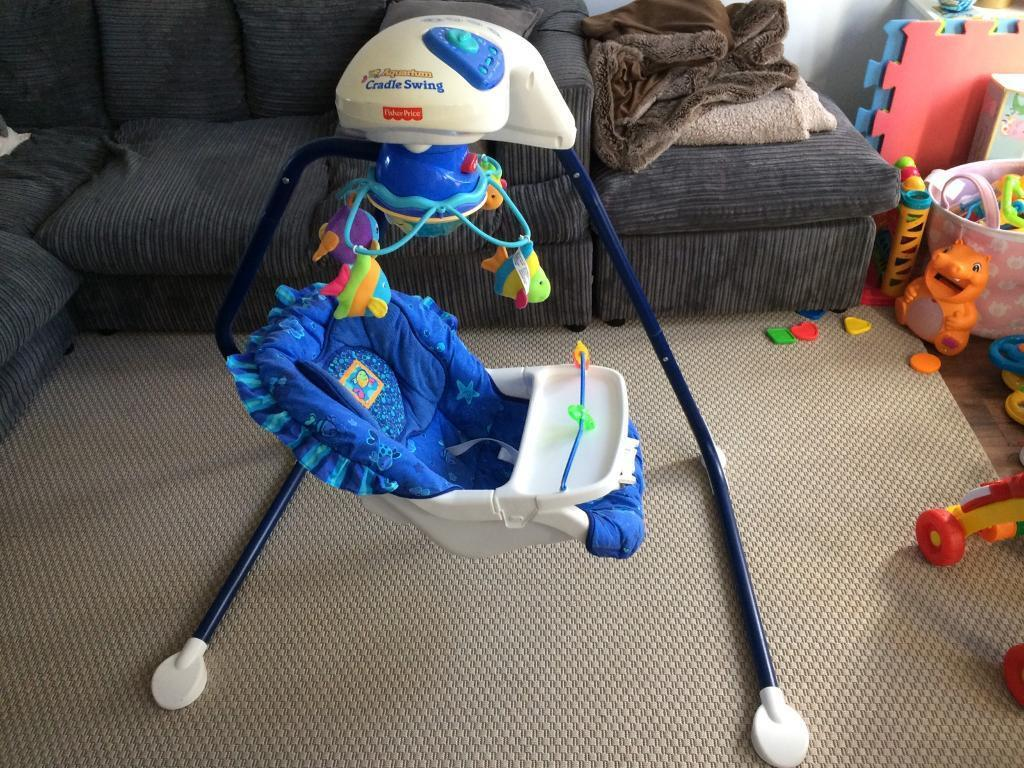 Fisher Price Ocean Wonders Aquarium Cradle Swing Still Available 02 07 17