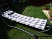 Garden hammock, strong metal frame