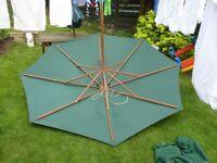 Large 2.8m Picnic bench style parasol.