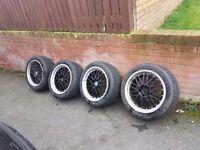 18 bmw wheels alloys with good tyres for sale ( e46 e39 e60 320d 530d 525d 318 116 120d