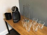 Delonghi Nescafé Dolce Gusto Genio Coffee Machine, Coffee Pod Holder, 6 Coffee Glasses
