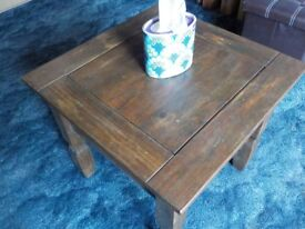 Solid Wood Antiqued Coffee Table