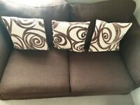 Brown Sofa with Cushions