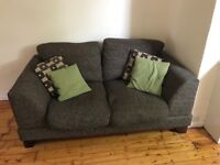 3 seater and 2 seater brown sofa