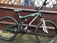 Mongoose otero full suspension mountain bike will post