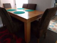 Big Dinning Oak Table + 6 Chairs