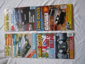 Four Collectible Vintage LAND ROVER OWNER INTERNATIONAL magazines in pristine condition.