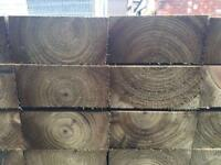 🚨Pressure Treated Wooden Railway Sleepers Excellent Quality