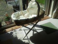 Moses basket with Stand and mattress/covers