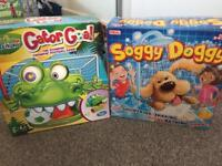 Soggy doggy and gator goal games