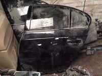 BMW 5 Series e60 e61 rear door passenger side black N/S 2003-2010 Original 535D