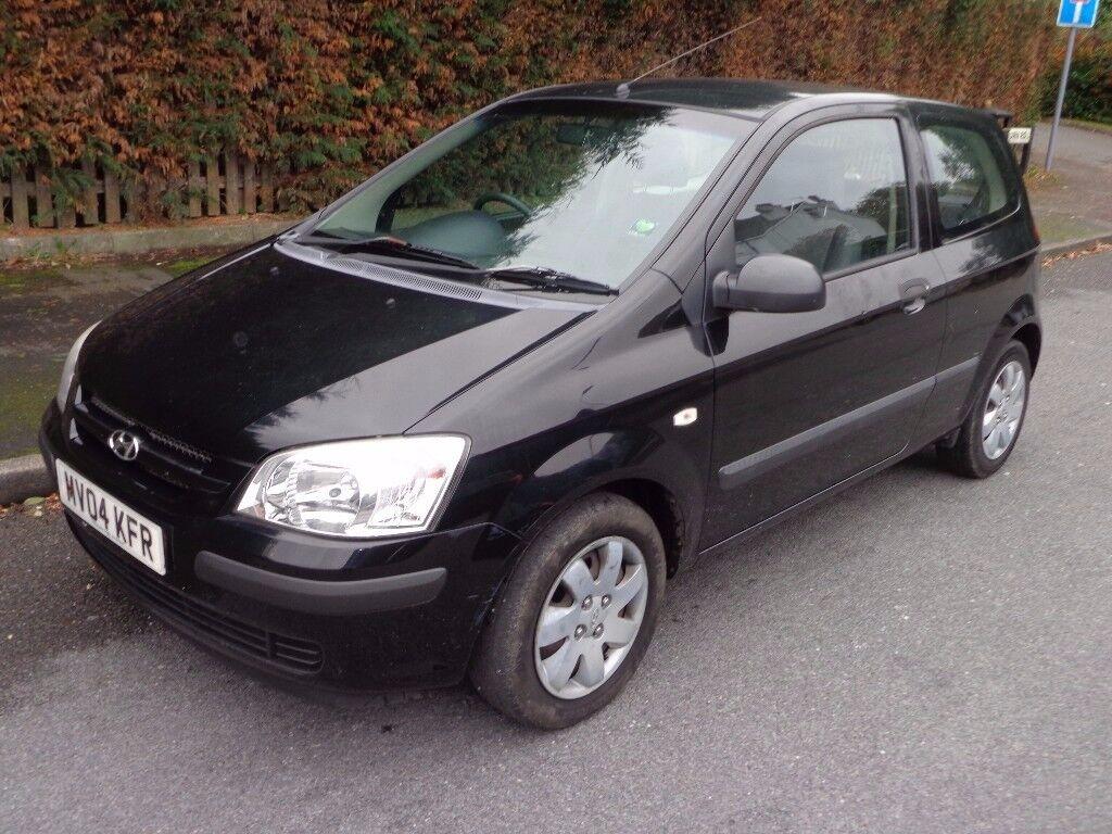2004 Hyundai Getz GSI 1.3 Petrol Black 3 Door 12 Months MOT Cheap to insure  &