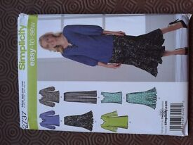 Simplicity skirt and top pattern 2737