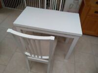 IKEA extendable dindng table and 2 chairs