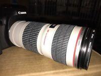 Canon 70 - 200 usm white lense