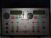 CD mixer NUmark CDmix1 + lockable numark flightcase + spare crossfader