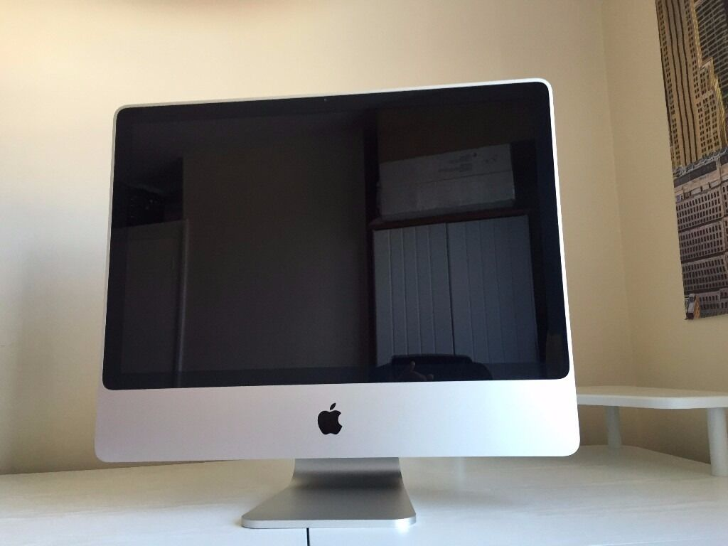 """iMac 24"""" Mid 2007, 2.4GHz Intel Core 2 Duo, 4GB RAM, 1TB Hard Drive, ATI Radeon HD 2600 Pro 256 MBin Northampton, NorthamptonshireGumtree - iMac 24"""" Mid 2007 2.4GHz Intel Core 2 Duo 4GB RAM 1TB Hard Drive ATI Radeon HD 2600 Pro 256 MB Good condition, except the headphones jack, which is damaged. The internal speakers are very loud though and have a high quality sound. It comes with..."""
