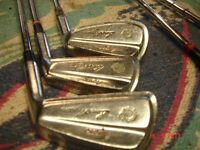 weird and wonderful selection of oddment golf clubs with famous names on the club heads. Right hand