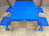 PORTABLE FOLDING PICNIC TABLE WITH CHAIRS