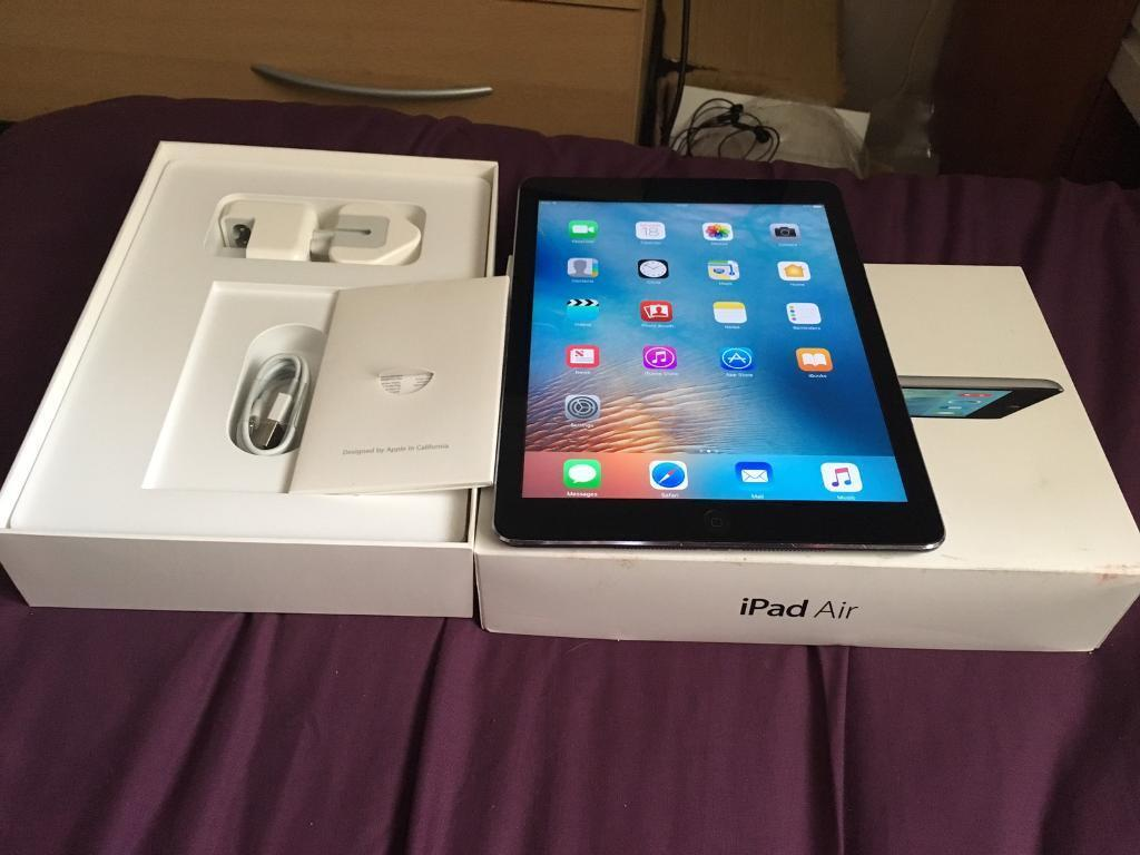 iPad Air 32GB wifiin Leeds, West YorkshireGumtree - iPad Air wifi 32GB works perfect had new screen fitted has small scratch on LCD in box with its wall charger