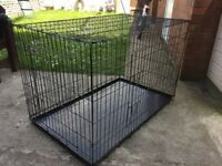 EXTRA LARGE 2 DOOR DOG CRATE, 48 INCHES LONG, 29 INCHES WIDE AND 32 INCHES TALL