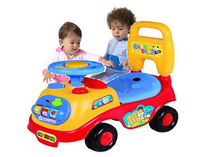 MY FIRST RED RIDE ON CAR BABY GIRL/ BOY PUSH ALONG SOUND EFFECTS W/ STORAGE