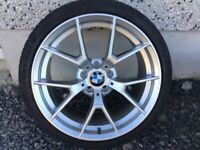 19INCH LIKE NEW BMW ALLOY WHEELS WIDER REARS WITH TYRES FIT 5 SERIES E60 EXCELLENT CONDITION