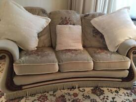 3 seater couch with two matching chairs