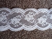 PALE PEACH LACE - 2 1/2 INCHES WIDE - LARGE REEL