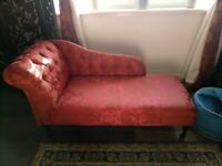 Wine Red Chaise Lounge