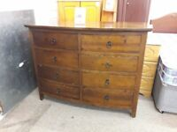 Dark Wood Chest of Drawers (8 Drawers)