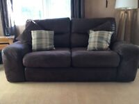 2/3 seater sofa (used) in chocolate brown