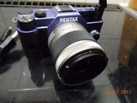 pentax q10 camera and lens as new