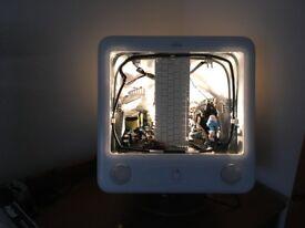 An original Retro Apple mac designer upcycle light