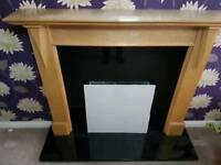 Solid black Marble Hearth