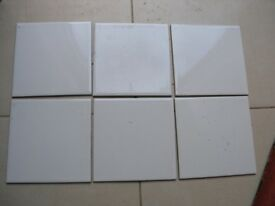 5 M2 Glossy White Ceramic Wall tiles 150mm by 150mm Weymouth