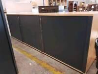 Mid height tambour door office units