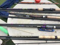 Job lot of fishing rods e.c.t
