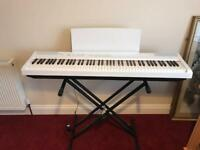 Like New White Yamaha P105 Digital Piano with Stand