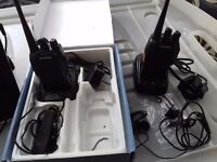Pair of two way walkie talkies