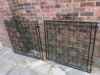 Metal (Steel or iron?) garden driveway gates 60s era scroll design