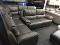 NEW/EX DISPLAY GREY LazyBoy APSLEY CORNER RECLINER + 3 SEATER ELECTRIC RECLINER SOFAS 70% Off RRP