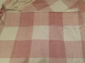 Laura Ashley pink gingham curtains