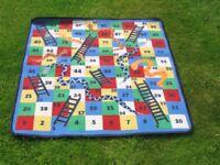 Snakes & Ladders game rug