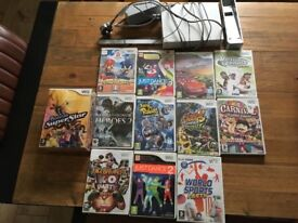 Nintendo wii console and 12 games