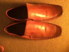 Leather shoes (2 Sets) 1 Brown and 1 Black, Size 7