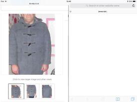 Men's blue / grey duffle coat size44