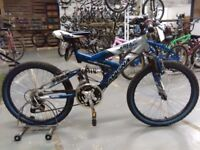 MAGNA FREEFALL BIKE 22 INCH WHEEL 15 SPEED FULL SUS VERY GOOD CONDITION